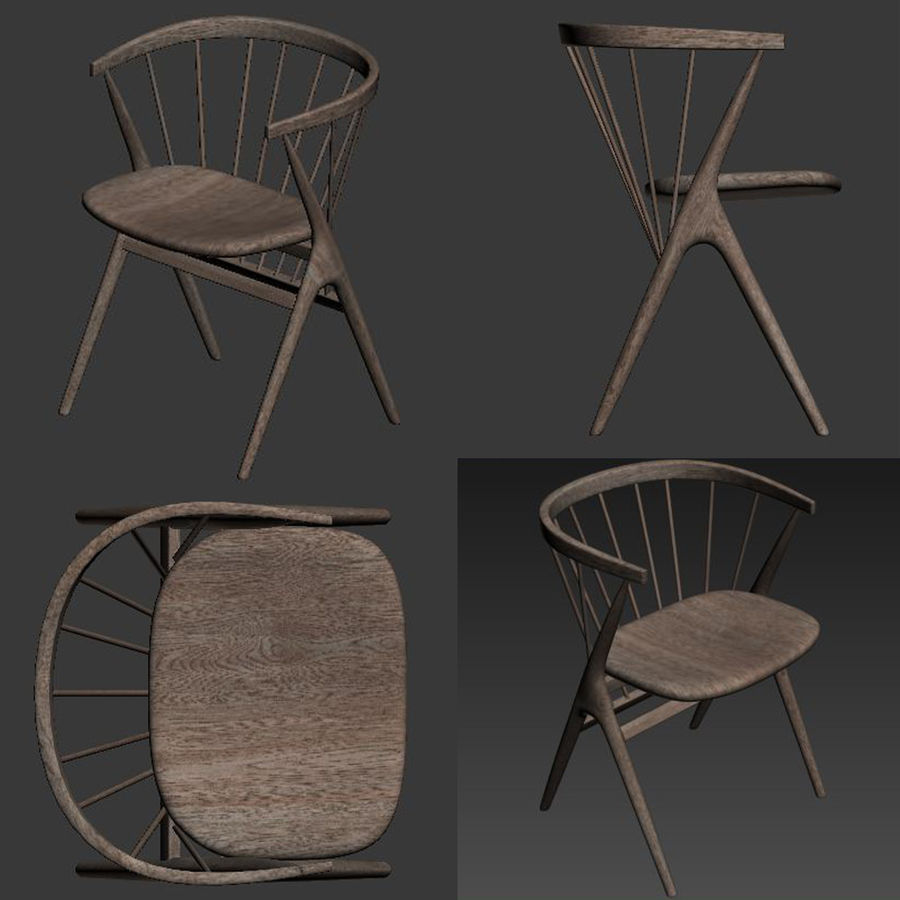 Sibast Furniture Chair royalty-free 3d model - Preview no. 5