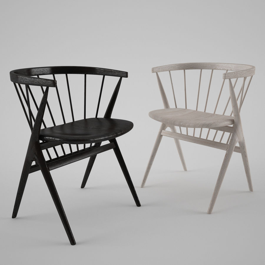 Sibast Furniture Chair royalty-free 3d model - Preview no. 1