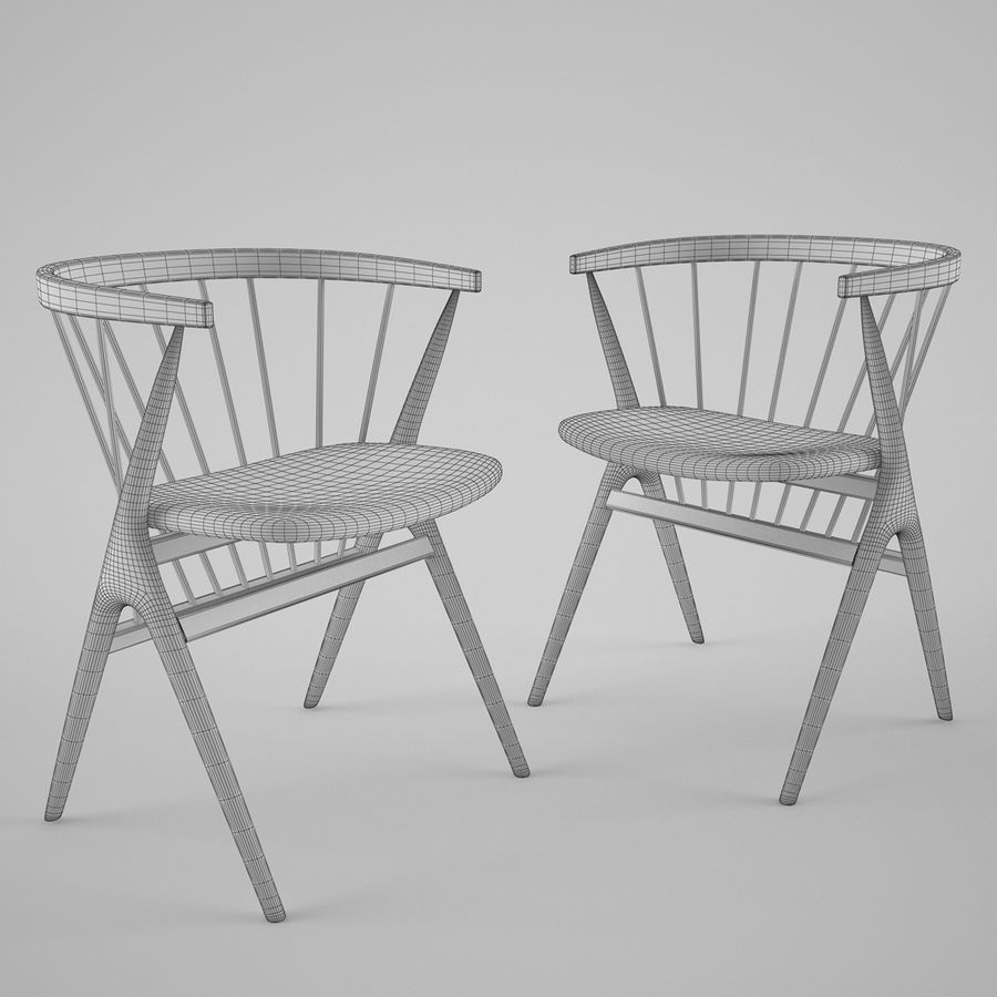 Sibast Furniture Chair royalty-free 3d model - Preview no. 3