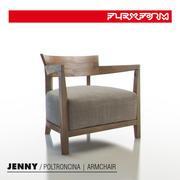 Flexform-제니 암체어 3d model
