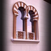 Ventana islámica modelo 3d
