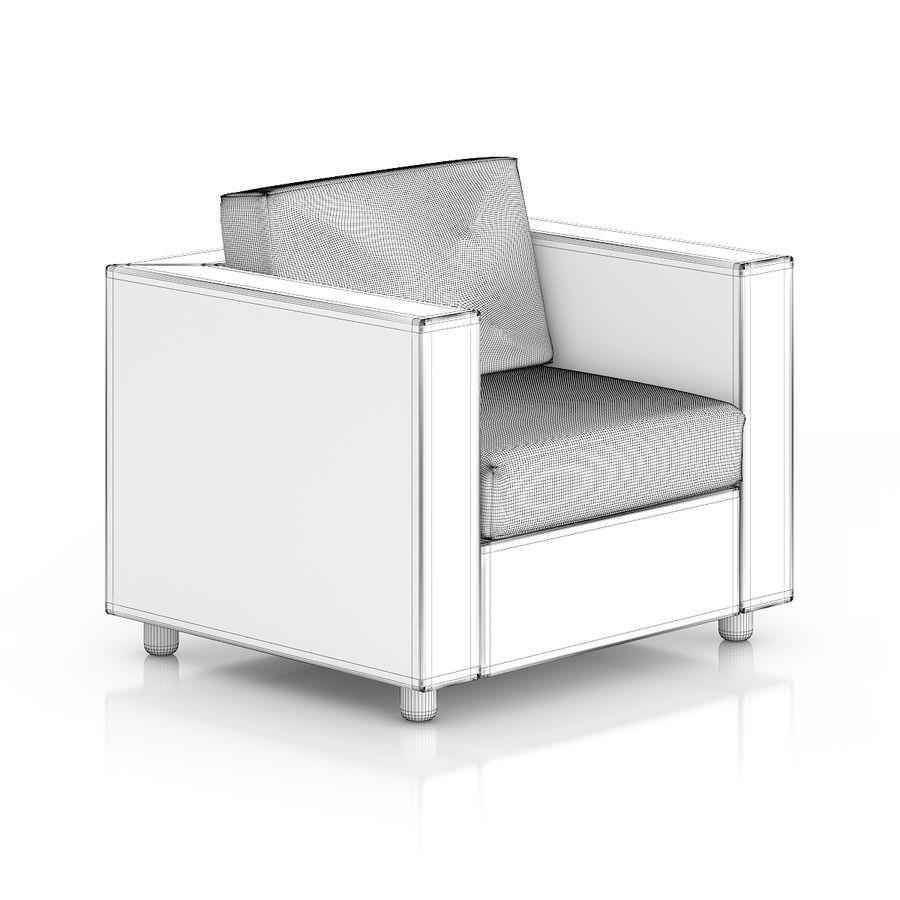 Poltrona in vimini royalty-free 3d model - Preview no. 2