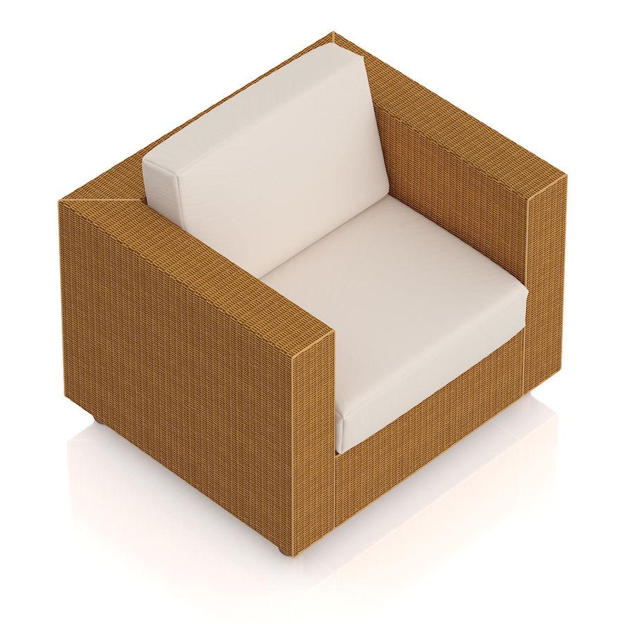 Poltrona in vimini royalty-free 3d model - Preview no. 5