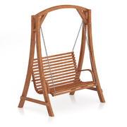 Wooden Bench Swing 3d model