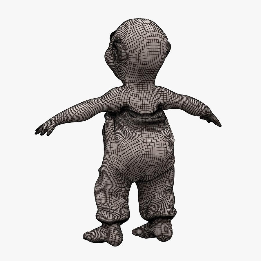 子供002 LOWPOLY-トポロジー(リギングされていません) royalty-free 3d model - Preview no. 9