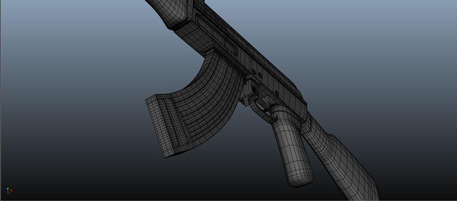 AK-47 Asset royalty-free 3d model - Preview no. 3