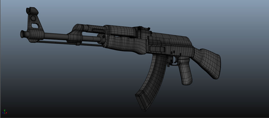 AK-47 Asset royalty-free 3d model - Preview no. 7