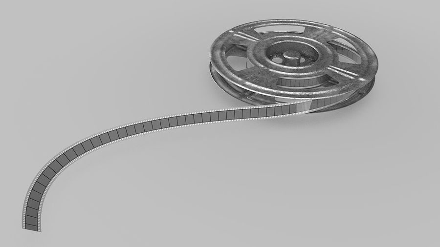 Film Reel royalty-free 3d model - Preview no. 3
