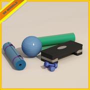 Yoga uitrusting 3d model