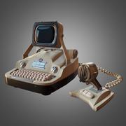 Retro Futuristic Computer 3d model