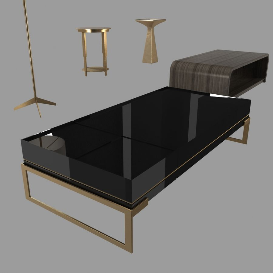 Collection de meubles lampes et tables royalty-free 3d model - Preview no. 12