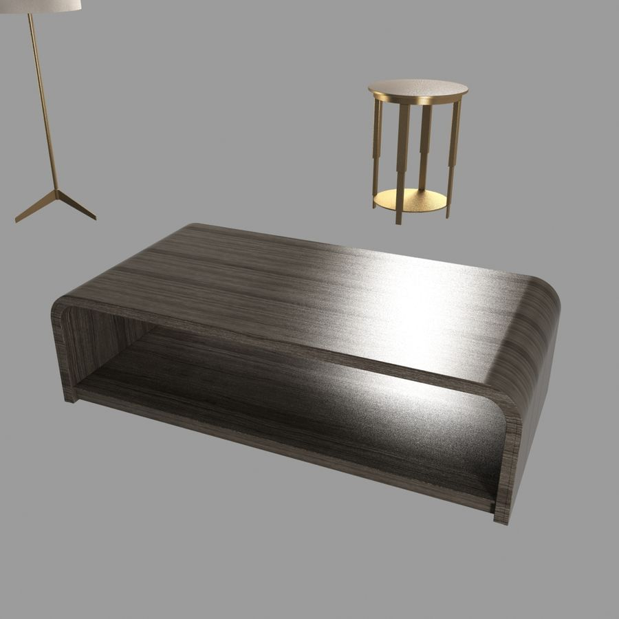 Collection de meubles lampes et tables royalty-free 3d model - Preview no. 9