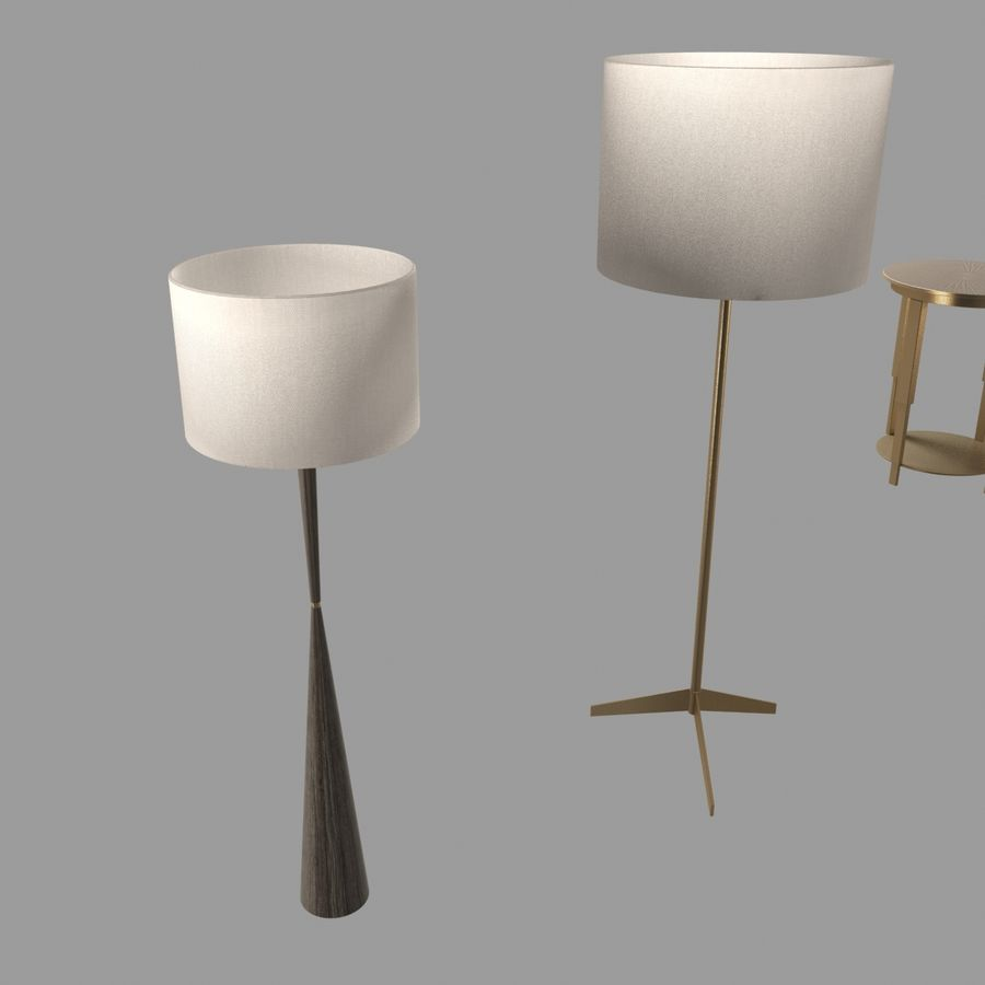 Lampen und Tische Möbelkollektion royalty-free 3d model - Preview no. 11