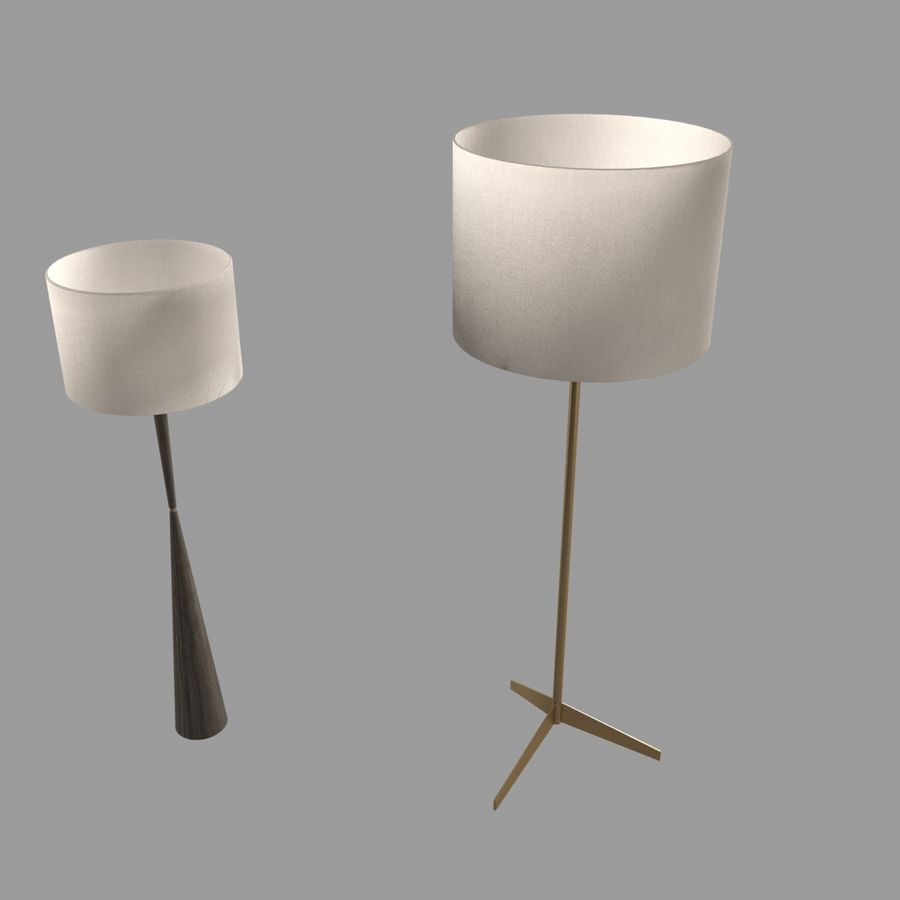 Lampen und Tische Möbelkollektion royalty-free 3d model - Preview no. 10