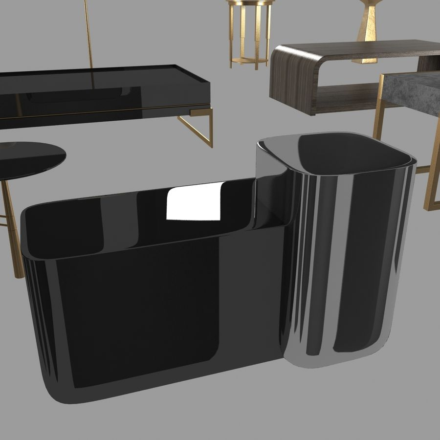 Collection de meubles lampes et tables royalty-free 3d model - Preview no. 14