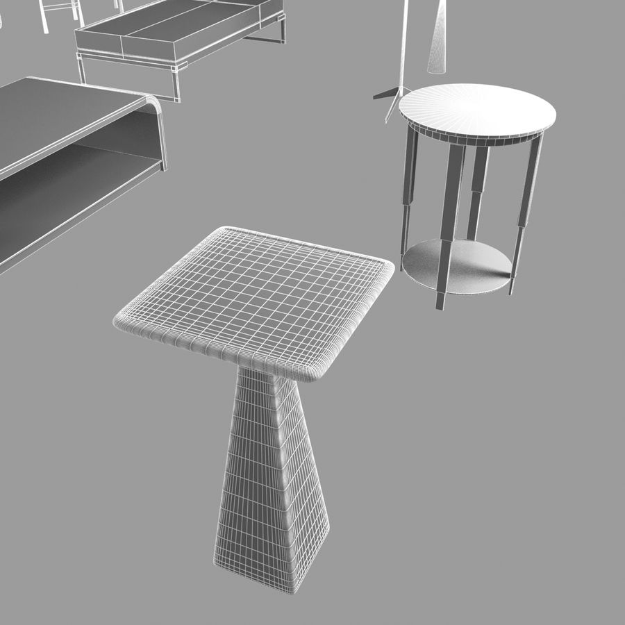 Collection de meubles lampes et tables royalty-free 3d model - Preview no. 5