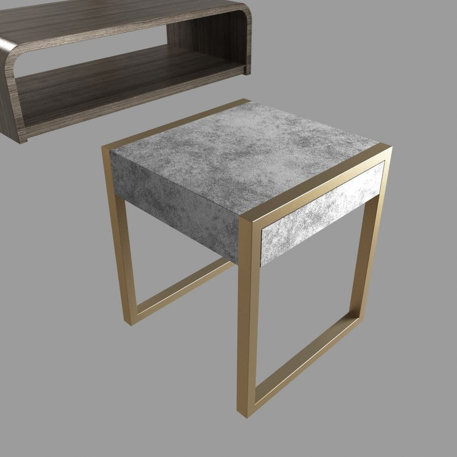 Collection de meubles lampes et tables royalty-free 3d model - Preview no. 15