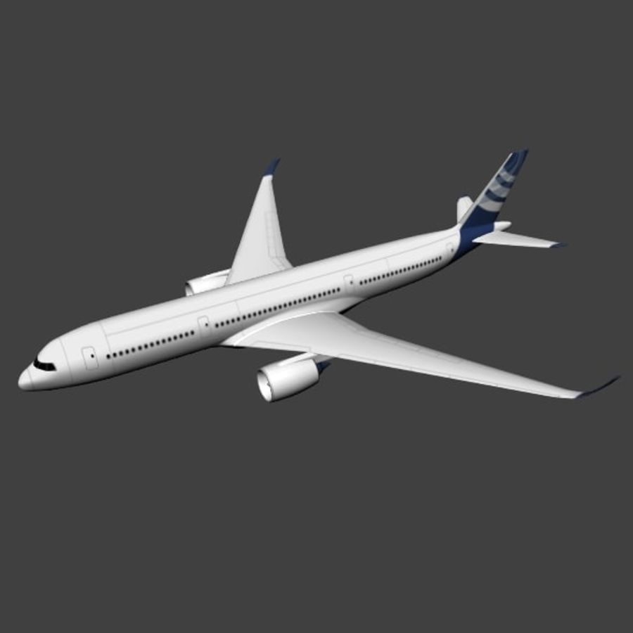 空客A350-900商用飞机 royalty-free 3d model - Preview no. 8