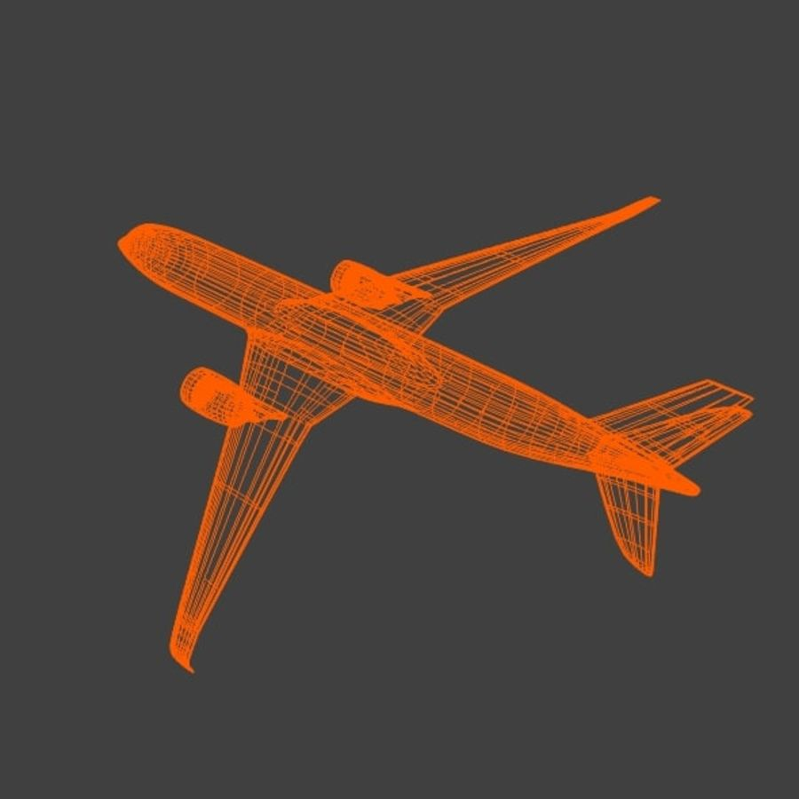 空客A350-900商用飞机 royalty-free 3d model - Preview no. 10