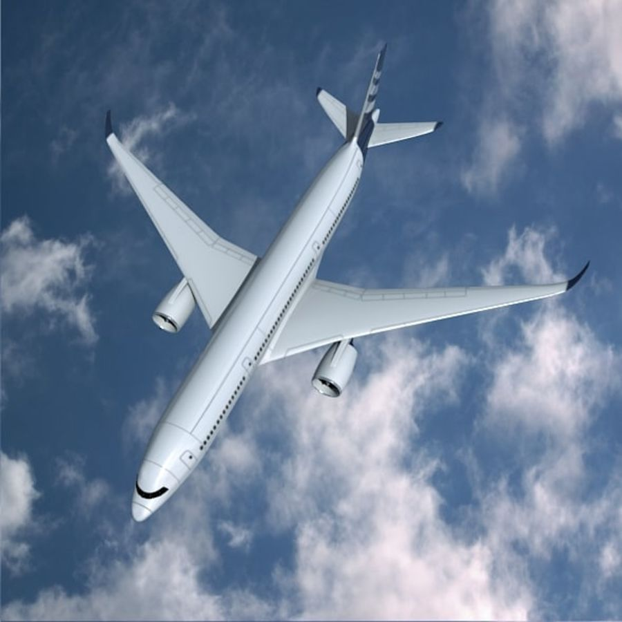 空客A350-900商用飞机 royalty-free 3d model - Preview no. 7