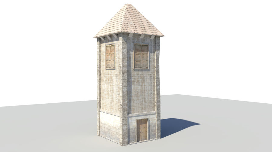 Medieval Tower royalty-free 3d model - Preview no. 2