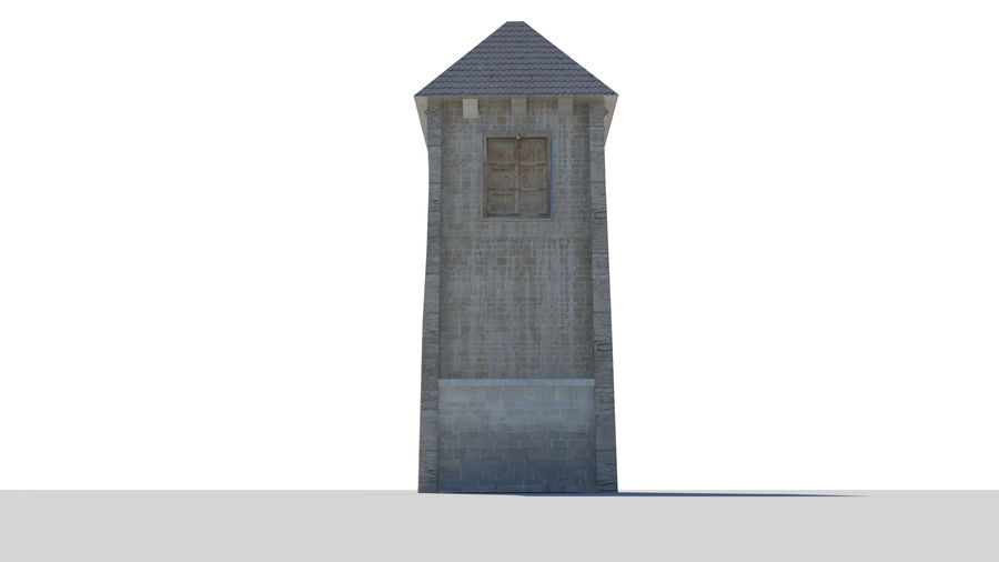 Medieval Tower royalty-free 3d model - Preview no. 6
