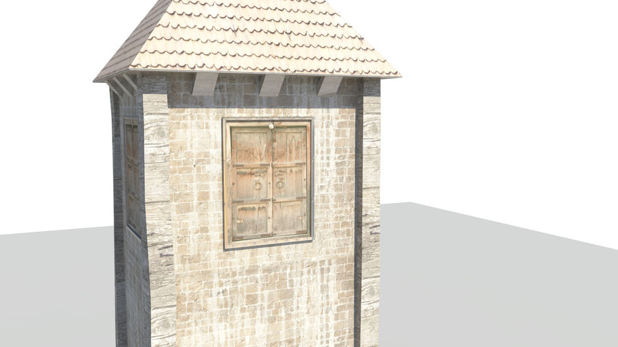 Medieval Tower royalty-free 3d model - Preview no. 4