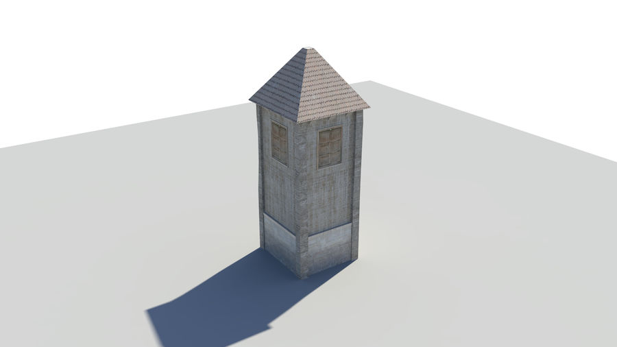 Medieval Tower royalty-free 3d model - Preview no. 5