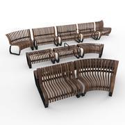 Скамейки Nova C от Green Furniture Швеция 3d model