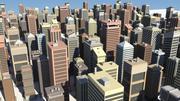 都市の建物 3d model