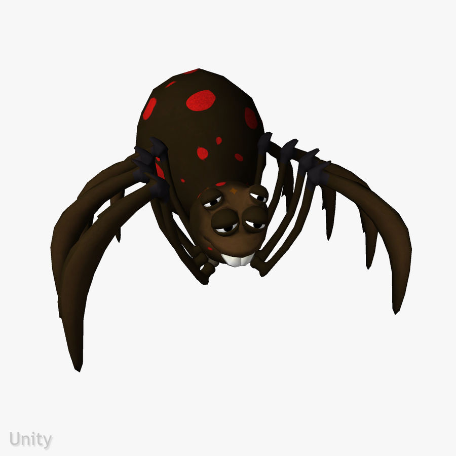 Grimtoon Spider royalty-free 3d model - Preview no. 6