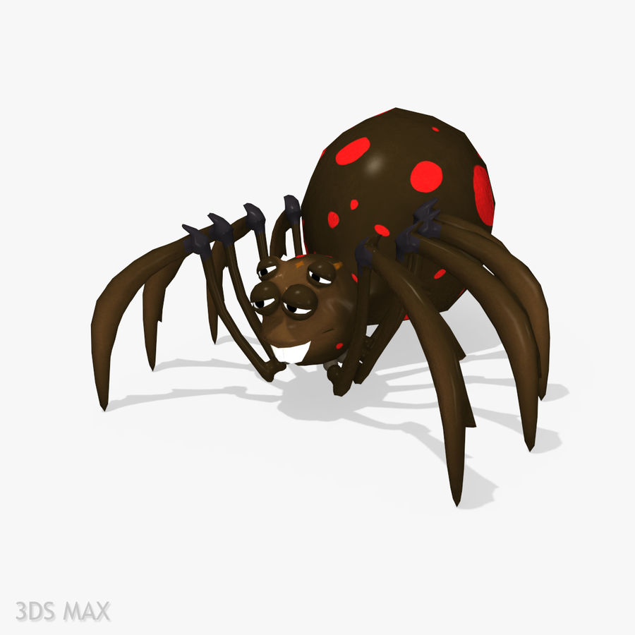 Grimtoon Spider royalty-free 3d model - Preview no. 4
