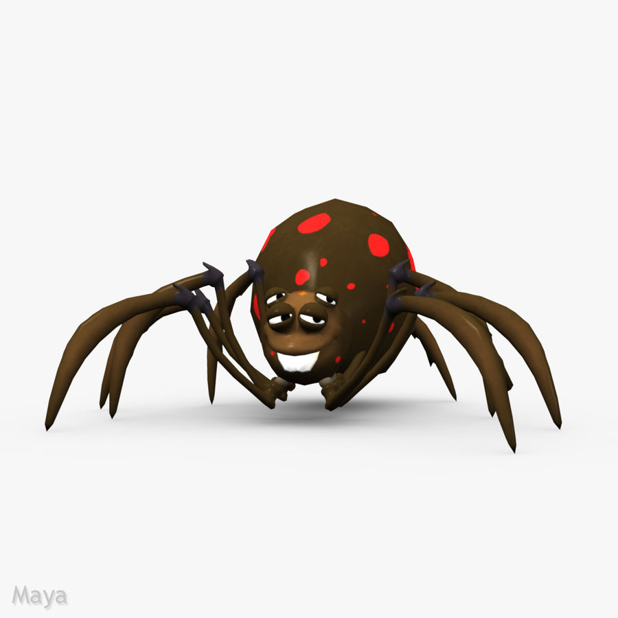 Grimtoon Spider royalty-free 3d model - Preview no. 2