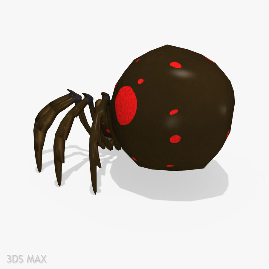 Grimtoon Spider royalty-free 3d model - Preview no. 5