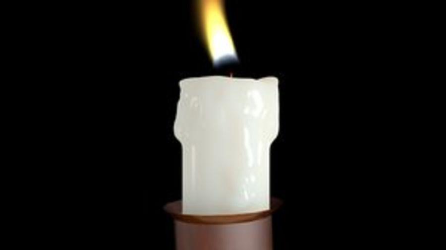 Świeca z ożywionym płomieniem royalty-free 3d model - Preview no. 1