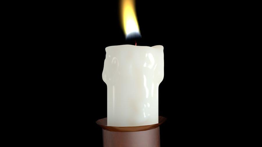 Świeca z ożywionym płomieniem royalty-free 3d model - Preview no. 6