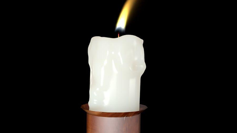 Świeca z ożywionym płomieniem royalty-free 3d model - Preview no. 2