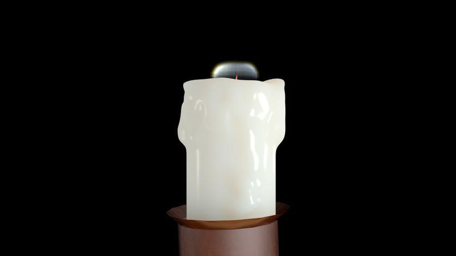 Świeca z ożywionym płomieniem royalty-free 3d model - Preview no. 5