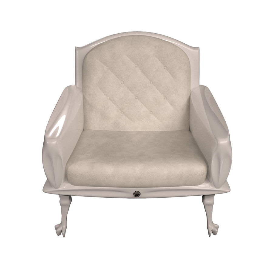 Neoclassical chair royalty-free 3d model - Preview no. 2