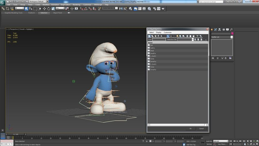 Clumsy Rigged royalty-free 3d model - Preview no. 14