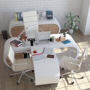 Стильный офис 3d model
