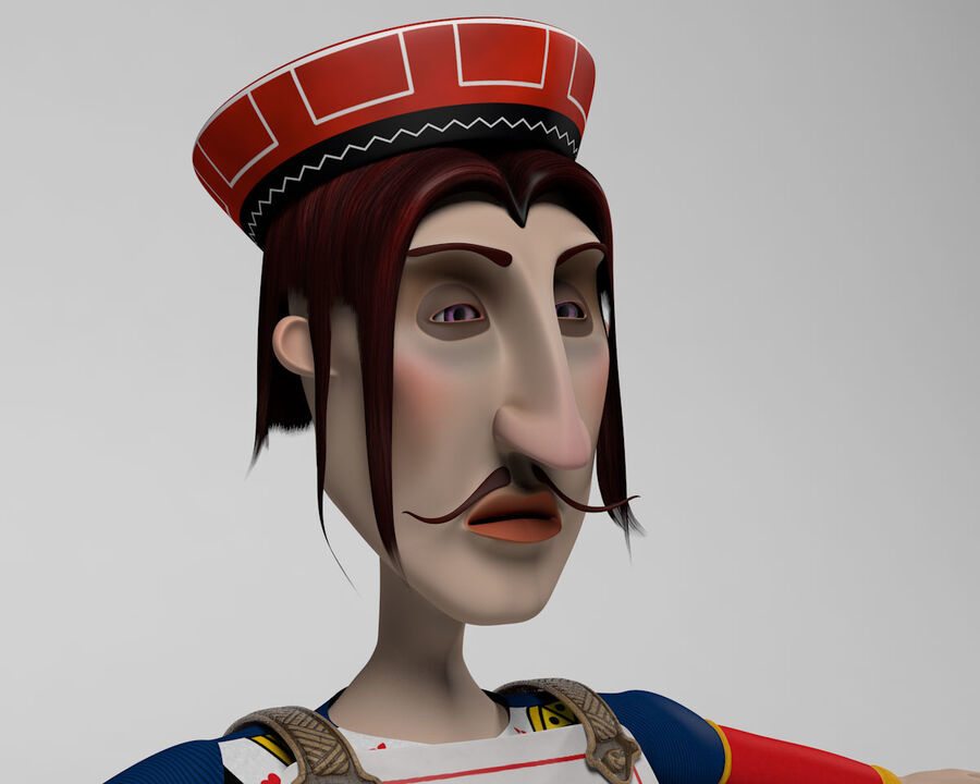 Postać z kreskówki Łotr kier royalty-free 3d model - Preview no. 14