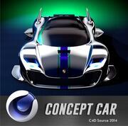 Porsche Futuristic Concept Car 3d model