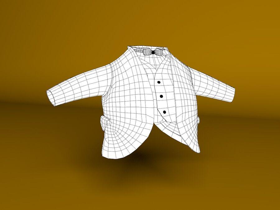 Biały królik kreskówka royalty-free 3d model - Preview no. 11