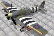 Hawker Typhoon 1B 3d model