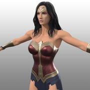 Wonder Woman Kostüm (Film inspiriert) 3d model