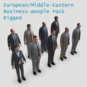 유럽 중동 사람들 팩 3d model