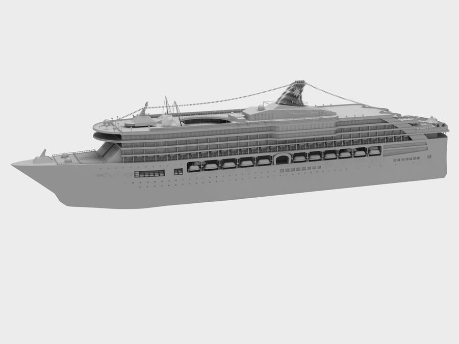 Bateau de croisière royalty-free 3d model - Preview no. 6