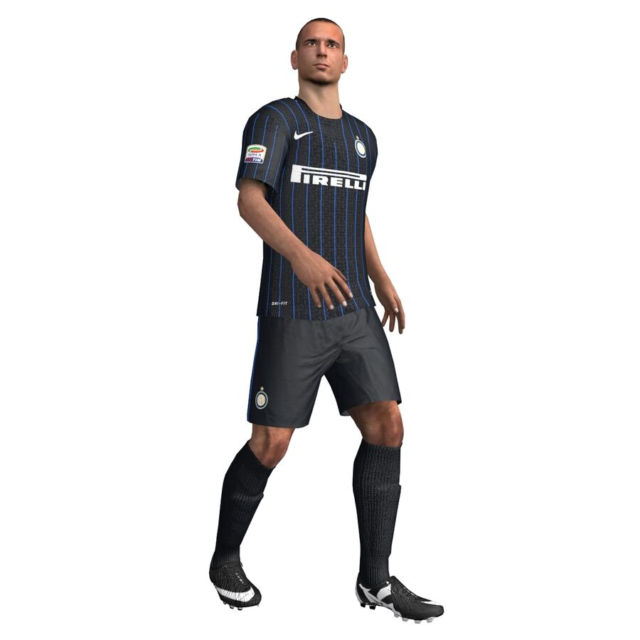 Fotbollsspelare INT riggad royalty-free 3d model - Preview no. 3