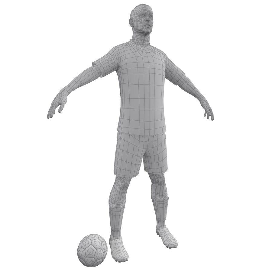 Fotbollsspelare INT riggad royalty-free 3d model - Preview no. 17